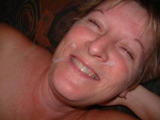 nice to see a mature woman with a facial and a smile