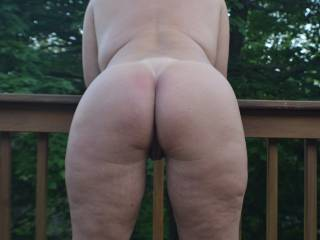 My ass on the deck.