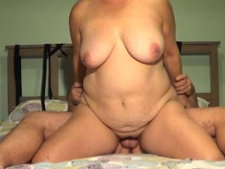 A front shot of wife fucking