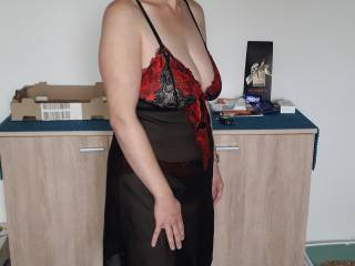 me in my new lingerie set