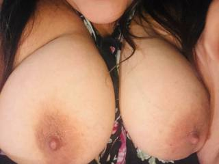 She loves her hard nipples sucked on!! Who\'s gonna help me