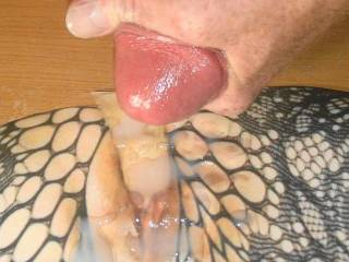 squeezing every last drop of my tasty warm jizz on Nor100\'s reverse cum tribute picture she made me. It was sooo hot I had to jerk off my throbbing dick and cum all over her tasty dildo fucked pussy!