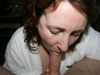 your looking like a very hot cock sucker...love you on your knees with your mouth open so I could fuck your sexy mouth and cum in it and all over your face