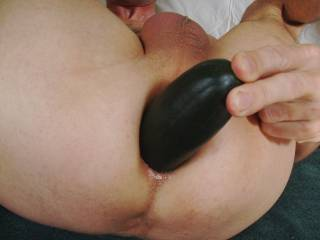 Decided to stretch my asshole a little wider with this cucumber. It felt great.