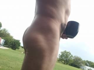 Love my morning coffee outdoors.....  i could use some company