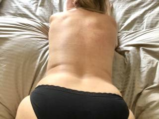 will you fuck me with my black knickers on or without ??