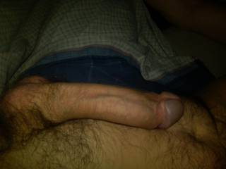 Relaxing with my Big hard dick