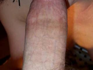 It's hard to see where the cock stops and your lips begin, a very nice example of you being one with the dick