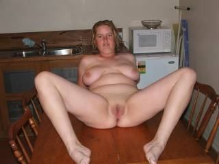 oh yes please.  Is it an 'all i can eat'? WOW, i so love those big titties and want a gorgeous shaved pussy! WOW!!!