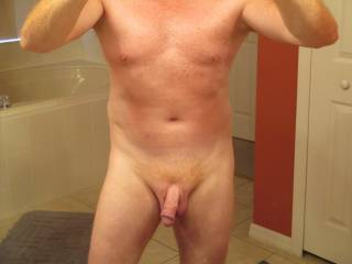 I love a well groomed mans body...yours is awesome!  Very sexy and attractive.  Desirable.  Beautiful cock! :)  Mrs.K