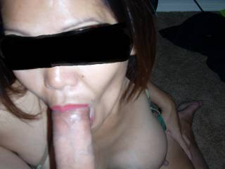 When I suck a cock, I suck it hard.  As you can see my cheeks are sunk in from sucking so hard trying to get his hot cum to swallow. Are you ready for my mouth ?