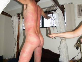 He was a very naughty boy, so I had to punish him. Who else has been naughty