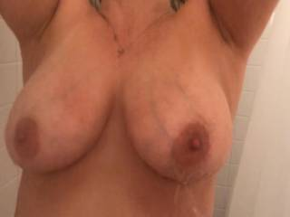 has anyone thought about fucking my wifes big tits