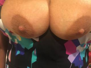 Wife sexy tits, how would you like to cum on them?