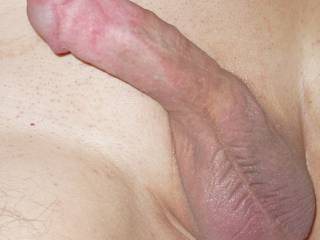 My small smooth shaven circumcised dick I'm sharing with you !