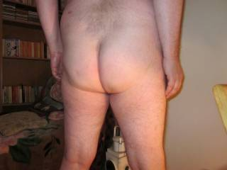 Do you like the way my ass cheeks taper into the tops of my legs and tell me what you think of my long narrow ass crack, please.  I love to show you my bum!!!!