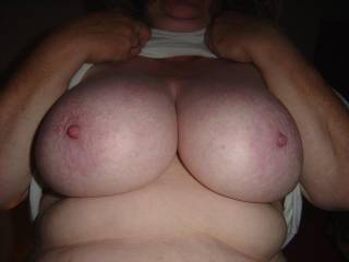 Wow looks like lots of fun. Would love to slide my hard cock between your sweet tits. Now your making me horny.