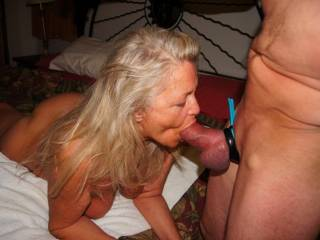 Mmmm, it looks like you are enjoying it too.  Nice cock....would you share it with another lady.   It looks like a good mouth full of hot cock.  K