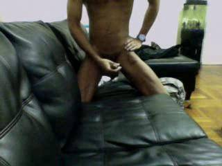 After edging the entire morning I decided to blow a load on the leather couch...something about the contrast between my cum and the black leather turns me on..hope you enjoy too