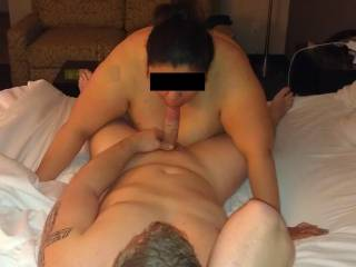 Hooked up with J a few night agao. He's into thick & bbw chics. She liked sucking his cock.