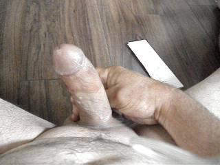 Great looking cock and nice cum.  Need a hand?