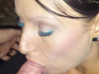 Cleaning my mans cock after fuckiing are gf b4 we he puts that pretty cock in my ass n fucks my wet pussy why she licks us both!!
