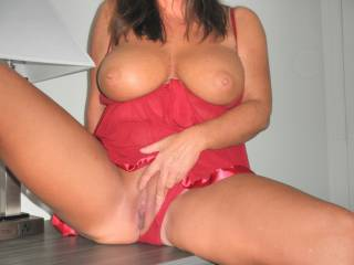 Like my new red lingerie?