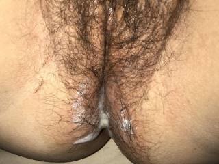 Cum running out of my pussy