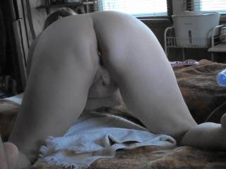 Just getting ready for a little doggie style fucking, how does my backside look?