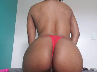Red butterfly, crotchless thong