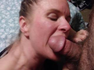 After being out with my girlfriends I bumped into my . By the end of the night he talked me into coming back to his place for a few more . He wanted to fuck me again, but it was that time of month so I made do with a blowjob.