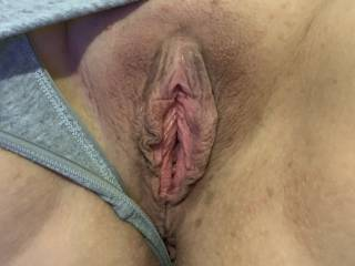 He pulled my panties to the side to see my pussy.