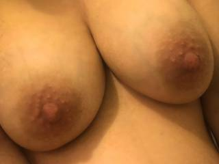 Please cum on my heavily 10 months pregnant tits and show me.