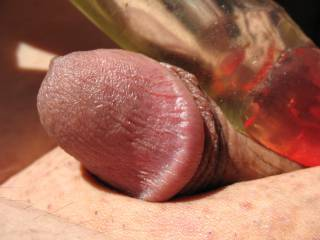 Nothing like a red tipped vibrating dildo to get my small cock excited.