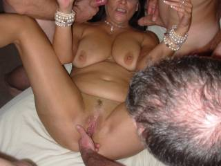 She loves having fingers in her open pussy and hard cocks everywhere!!