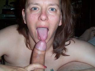 What a fun lady, so happy with that cock in her hand!