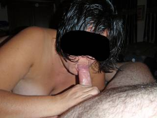 I love the feel of a big hard cock in my mouth!  Who\'s next?