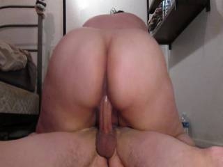 Big ass on top gets creamed but still wants more