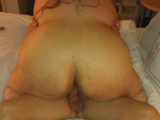 Hope rode R good & hard. She enjoyed all his big white cock all the way down. He loved her tits in his face & her warm pussy massaging his cock.