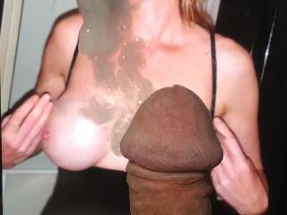 Cum for a friend. All over your sexy tits and face.