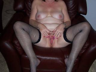 Certainly would be better for you to hold it open for me to eat your beautiful cum and preferably cum filled and you fingering your clit when I wasn't sucking it.I'd love giving those wnderful inner thighs and marvelous breasts a lot of attentins as well.