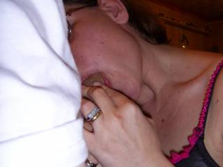 my sexy wife giving me a blowjob, damn she\'s good. Do you wanna suck my cock?