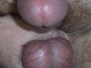Me grabbing my balls