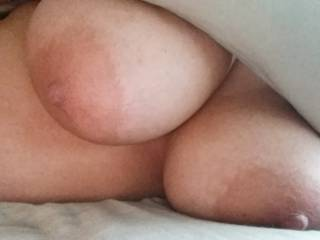 She loves cum all over these melons!!