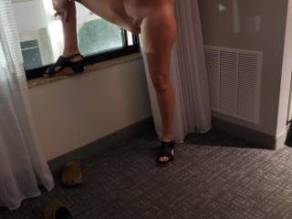 Wife getting ready for another date.