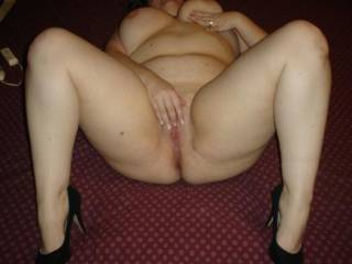 slut wife spread and ready