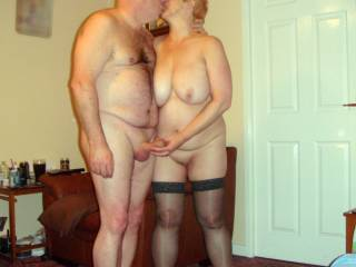 You're a great looking couple. Nice photo.