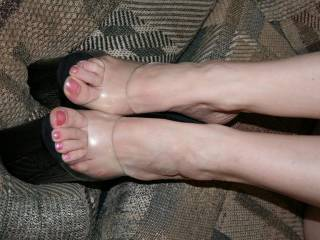 My Wife showing off her sexy feet and slutty Shoes!!