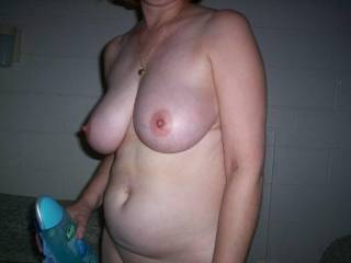 i would love to play with your hot tits and body too bad we are so far