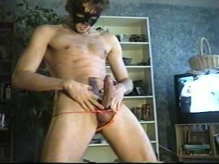 Girls panties around my big hard cock turns me on soooo much.